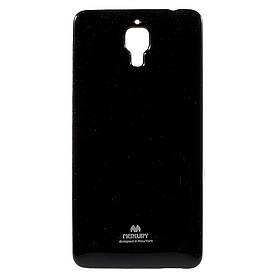Чехол накладка для Xiaomi Mi4 силиконовый, MERCURY, Черный