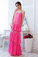 Платье в пол с воланами. Разные цвета