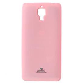 Чехол накладка для Xiaomi Mi4 силиконовый, MERCURY, Розовый