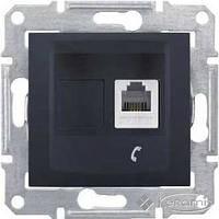 Schneider Electric розетка Schneider Electric Sedna телефонная 1 пост., без рамки, графит (SDN4101170)