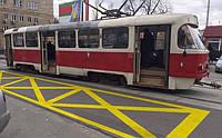 В Киеве появятся новая разметка трамвайных остановок!