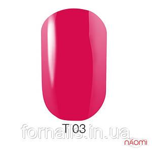 Лак для ногтей Naomi 12 мл №T003(малиновый, полупрозрачный)