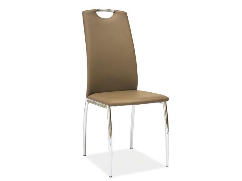Металлическое кресло хром H-622