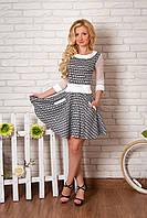 Женское повседневное летнее платье со рукавами стрейч-сетка (серия 2016 лето, разные цвета)