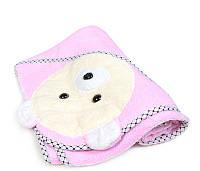 """Уголок для купания. """"Глазастый мишка 2"""". Полотенце с капюшоном. Пончо детское"""