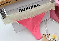 Стринги гипюр Victoria's Secret, розовые, фото 1