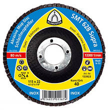 Лепестковый тарельчатый круг Klingspor SMT 628 125X22,23 P60