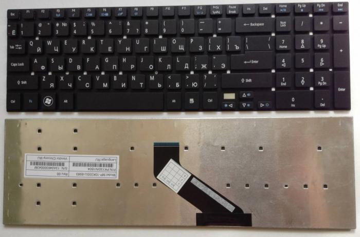 Клавиатура Acer Aspire V3-531