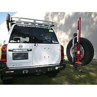 Выносной крепеж запасного колеса к заднему бамперу Kaymar на правую сторону Nissan Patrol Y61 04+