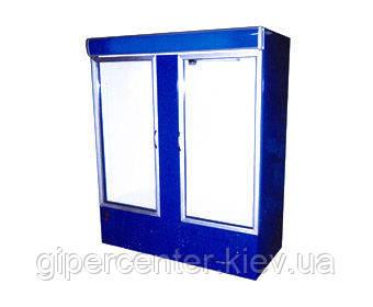 Холодильный шкаф с лайтбоксом Айстермо ШХС-1.4 (0...+8°С, 1600х700х2000 мм, стеклянные двери), фото 2