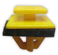 Фигурное крепление бокового молдинга с герметиком Hyundai Accent, Elantra 8775835000  Желтый