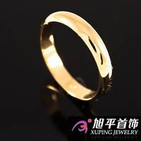 Кольцо лимонное золото Обручальное 0,6 объемное