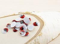 Глазки для игрушек овальные красные 16мм (10шт.) (товар при заказе от 200 грн)
