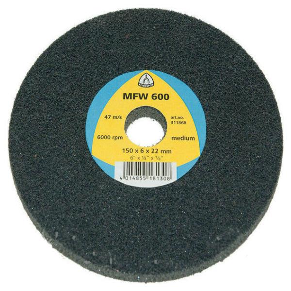 Высокопродуктивный круг Klingspor MFW 600 150X6X22 medium из нетканого материала