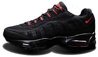 Женские кроссовки Nike Air Max 95 Jordan Retro Black/Red, найк, аир макс