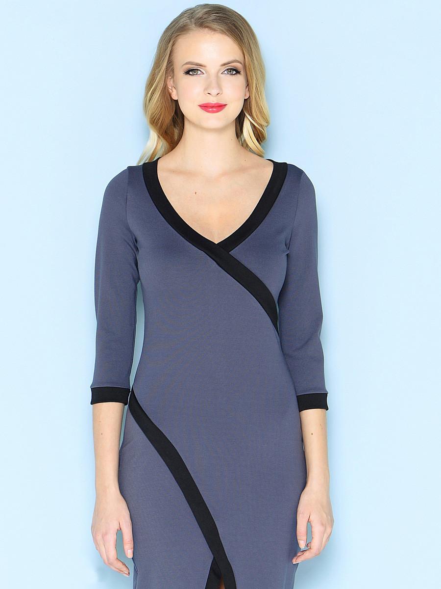 Оригинальное трикотажное платье B 07, фото 1