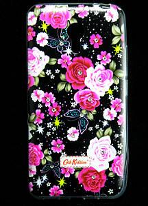 Чехол накладка для Meizu M2 NOTE силиконовый Diamond Cath Kidston, Ночные розы