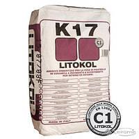 Litikol клей для плитки Litokol K17 цементная основа, серый 25 кг (K170025)