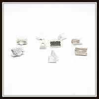 Зажим для лент 1 см серебро (2000 шт в уп.)