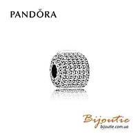 Pandora Шарм-клипса БОЧОНОК 791873CZ серебро 925 Пандора оригинал