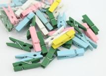 Мини прищепки разноцветные 10 штук 4,5 см