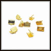 Зажим для лент 1 см золото (2000 шт в уп.)