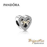 Pandora Шарм СВЯЗАННЫЙ ЛЮБОВЬЮ 791875CZ серебро 925 Пандора оригинал