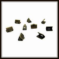 Зажим для лент 1 см бронза (2000 шт в уп.)