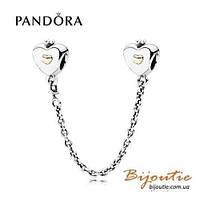 Pandora защитная цепочка СЕРДЦЕ 791878 серебро 925 Пандора оригинал