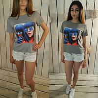 Женская футболка серая т-06110