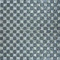Мозаика Grand Kerama 300x300 шахматка рельефная платина - рельефный серый 647