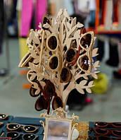 Подставка для украшений, очков Дерево маленькое двойное резное из фанеры