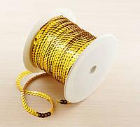 Пайетки на нитке золото 1 метр (товар при заказе от 200 грн)