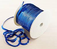 Пайетки на нитке синие 1 метр