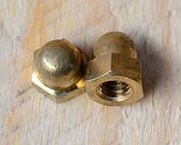Гайка М22 ГОСТ 11860-85, DIN 1587 колпачковая латунная