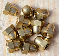 Гайка М14 ГОСТ 11860-85, DIN 1587 колпачковая латунная