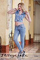 Женская джинсовая короткая жилетка