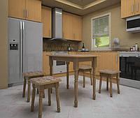 Стол обеденный с табуретками Визит (4шт.)