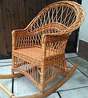 Плетёная качалка из лозы   кресло-качалка для отдыха садовая для дачи