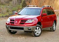 Защита переднего бампера Mitsubishi Outlander (2003-2006)