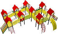 """Детский комплекс Kidigo """"Королевство"""" высота горок 0,9 м 1,2 м 1,5 м 1,8 м"""