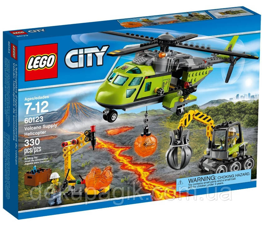 LEGO City Грузовой вертолёт исследователей вулканов 60123