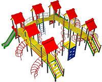"""Детский комплекс Kidigo """"Мой город"""" высота горок 1,2 и 1,5 м"""