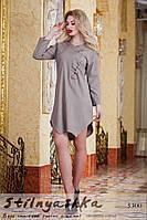 Льняное платье Стежка мокко