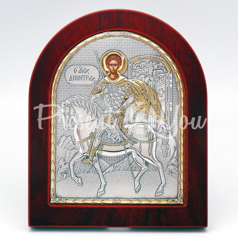 Икона «Святой Дмитрий», 15х18 см.