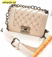 """Шикарная модная  женская  сумка - клатч """"CHANEL girls """"   В наличии цвет Светло-бежевый"""