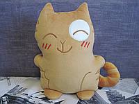 Мягкая игрушка кот Персик ВКонтакте стикер ручная работа