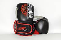Боксерские перчатки PowerPlay Lion - Predator series (3006) Black