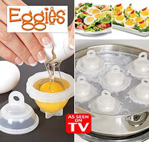 Яйцеварка без скорлупы Eggies, варка яиц без скорлупы