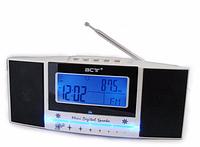 Радиочасы 792LCD FM USB SD, электронные настольные часы с LCD-дисплеем, часы с FM-приемником